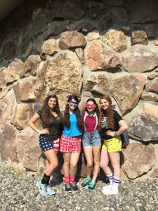 Wacky Friday at USY Wheels Trip with Group of Girls